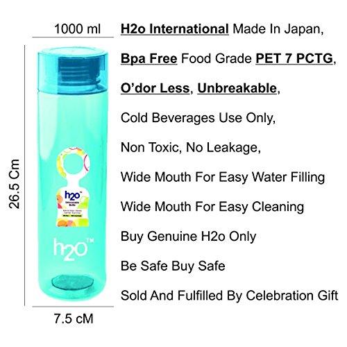 H2O H20PL1000BLUE UNBREAKABLE - Bottle For Refrigerator 1000Ml (Blue)