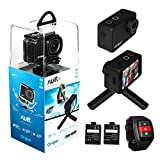 ORGOO OC1/BLK Swift 4K Action Camera Electronic Image Stabilization, Sony Image Sensor, 2' IPS Touchscreen, Accessories (Ip68 Certified Waterproof Case, Wearable Remote, Mini Tripod, and More)