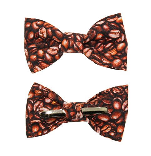 Toddler Boy 4T 5T Coffee Beans Clip On Cotton Bow Tie Bowtie by amy2004marie