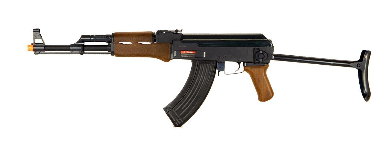 Double Eagle AK-47 CQB AEG Semi/Full Auto Electric Airsoft Rifle Gun High Capacity Magazine FPS 300