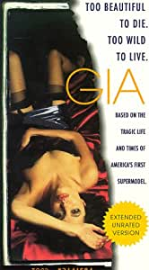 amazoncom gia unrated edition vhs angelina jolie