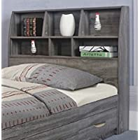 Y1601T Smart Home Distressed Grey Twin Size Headboard