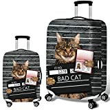 Cats Dogs Pattem Luggage Cover Travel Suitcase Protector Elastic Dust proof Bag Protective Trolley Suitcase (2, L (26~28 Inch))