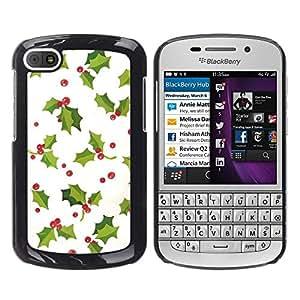Caucho caso de Shell duro de la cubierta de accesorios de protección BY RAYDREAMMM - BlackBerry Q10 - Winter White Green