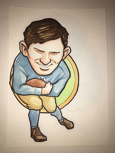 Green Bay Packers Original Art (Green Bay Packers Johnny McNally #24 Original Art Illustration Rare HERO Deck Drawing! (Parody Productions LOA))