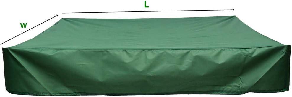 Boburyl Oxford Tela Protectora Arenero Herramienta para el jard/ín a Prueba de Polvo Impermeable Refugio Caja de Arena Cubierta con cord/ón Refugio Verde 4