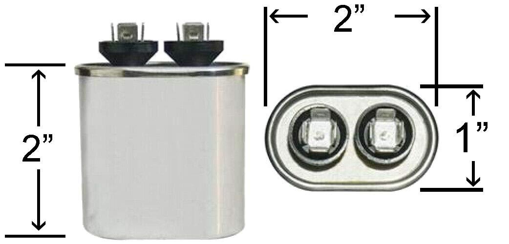 7.5 uf MFD 370//440 Volt VAC ClimaTek Oval Capacitor fits American Standard # CPT476