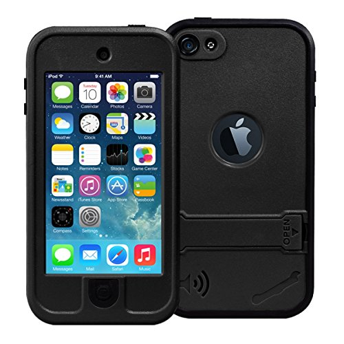 iPod 5 Case, iPod 6 case, iThroughTM Touch 5 Waterproof Case with Stand, Dust Proof, Snow Proof, Shock Proof Case, Scratch Protective Carrying Cover Underwater Case for iPhone iPod 5, iPod 6 (Black)
