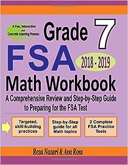 Buy Grade 7 FSA Mathematics Workbook 2018 - 2019: A