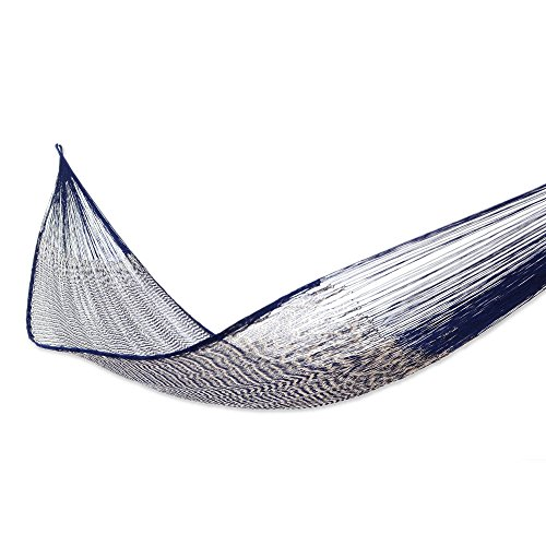 - NOVICA Sustainable Cotton Blue Rope Hammock 'Ocean Waves' (Double)