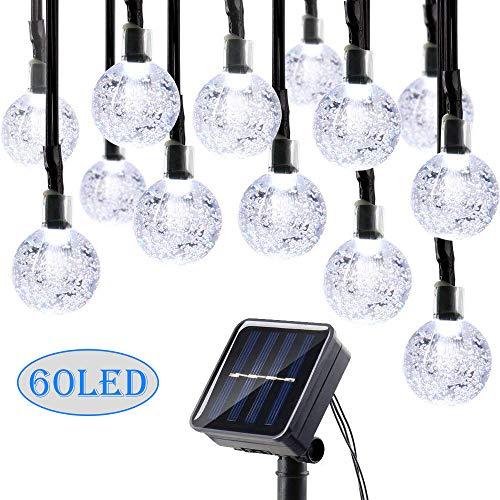 CAMKONG Solar String Lights Fairy Lights 35Ft 60 LED Crystal Ball String Lights Starry Lights Globe String Lights for Garden Home Patio Indoor -