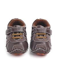 30ae5cf2c0a1f Nagodu shoes Zapato para Bebe niño Cafe con Cintas y Velcro Suela Dura Cafe  con Naranja