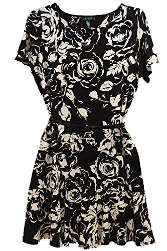 Lauren Ralph Lauren Plus Size Short-Sleeve Floral-Print Belted Dress (3X)