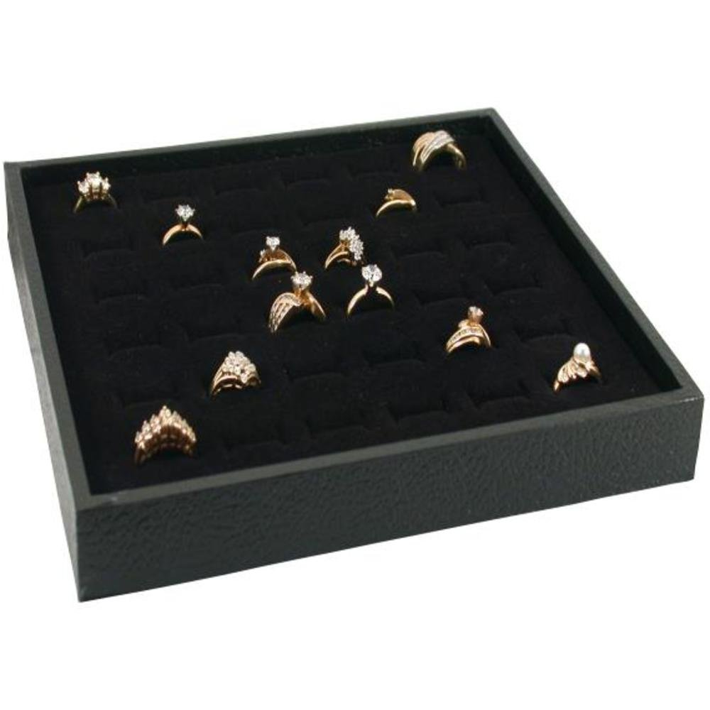 Jewelry Display Case Box 36 Ring Velvet Insert New KIT-10300