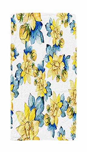 Shorping Kids,Baby,Women and Men Beach Towels Floral Damask Pattern Gold Vintage Antique Flowers Leaves Ornaments Wallpaper 3D 30x60 Inch Large Pool Towels for Body Bath,Swimming,Travel,Camping,Sport