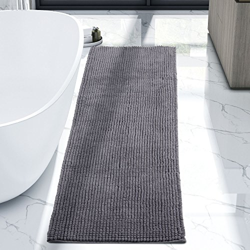 Lifewit 63'' x 20'' Bath Runner Chenille Rug Living Room Area Rugs Kitchen Machine Washable Dark Grey by Lifewit