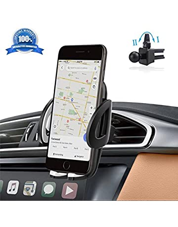 IZUKU Support Telephone Voiture Ventilation Support Voiture Universel avec  Rotation 360° pour iPhone X  94ce3bc7854c