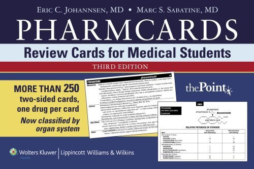 Download Pharmcards: Review Cards for Medical Students 3rd Edition by Johannsen, Eric C., Sabatine, Marc S. (2006) Cards ebook