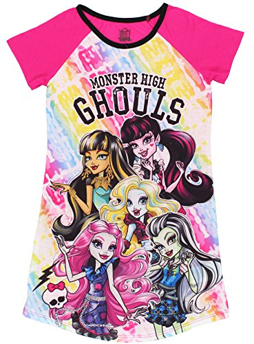 Monster High Big Girls' Ghouls Dorm, Pink, Medium (7-8) (Girl Monsters)
