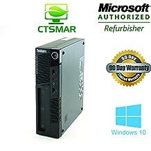 LENOVO ThinkCentre M91p 0266 USFF: Intel Core i5 2400s 2.5 GHz / 4 Gb DDR3 / 250 Gb / DVDRW / Windows 10 Home Premium
