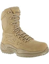 Reebok Mens Stealth 8 Lace-Up Side-Zip Desert Khaki Work Boot Composition Desert Khaki 11.5 EE US