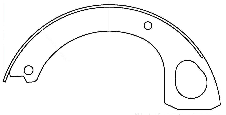 Brake Shoe 111.10090 Centric