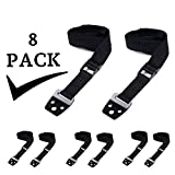 8 Pack Anti Tip Furniture & TV Safety Straps | All Metal Parts, No Plastic | Heavy Duty Earthquake Resistant Anchors | Premium Quality Adjustable Safety Straps For Baby Proofing and Child Safety