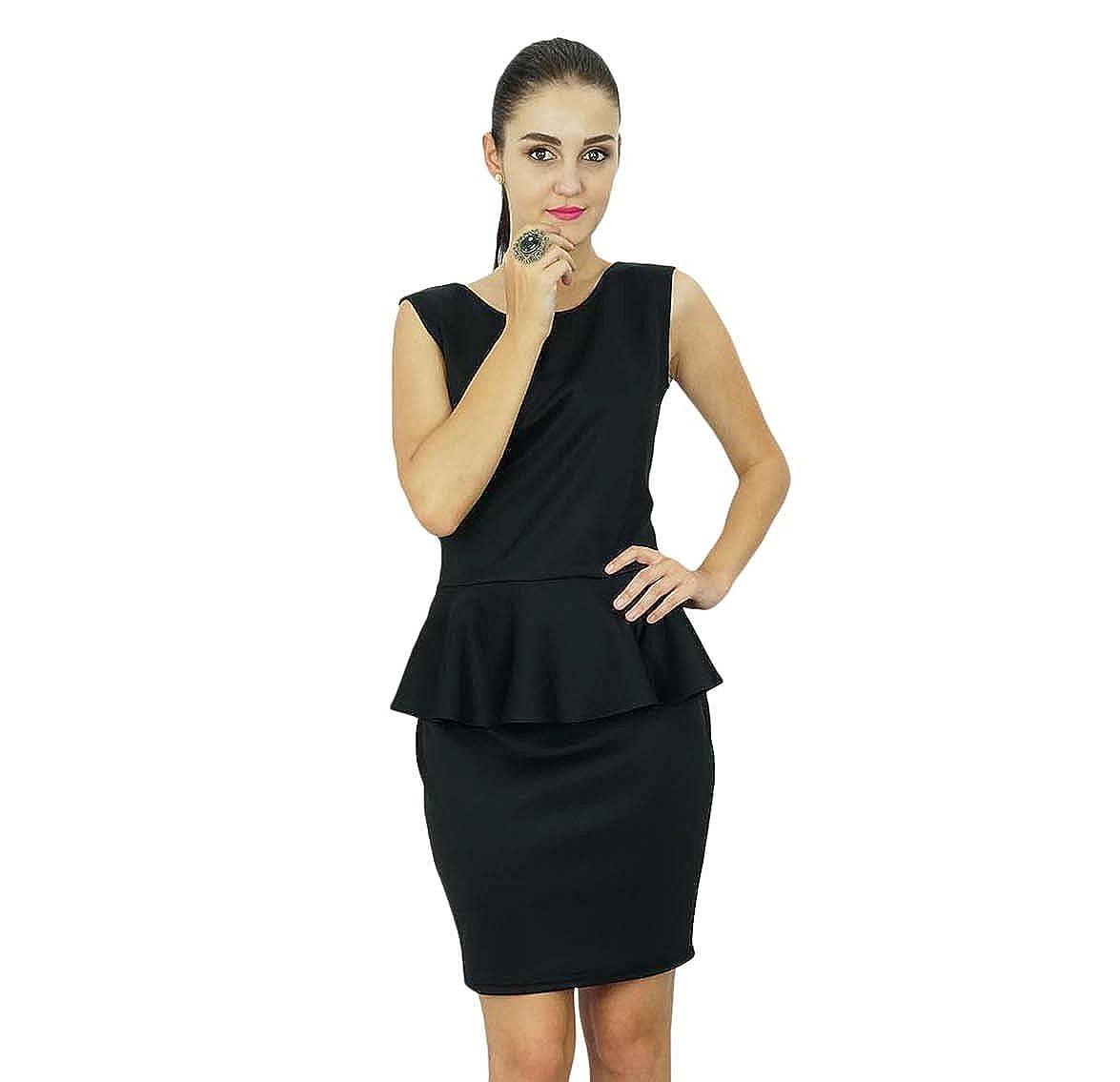 eafcb83ff0bc Bimba Womens Classic Peplum Wiggle Pencil Midi Dress at Amazon Women's  Clothing store: