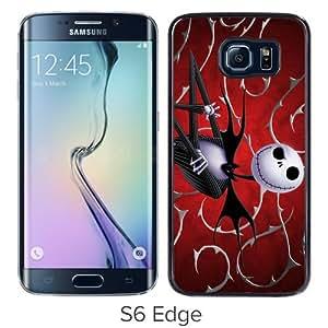 Samsung Galaxy S6 Edge Case ,Jack Skellington Black Unique And Beautiful Custom Designed Phone Case
