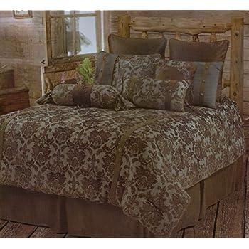 Amazon Com Luxurious Fleur De Lis Rustic Comforter
