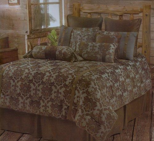 Luxurious Fleur-de-lis Rustic Comforter Bedding Bedroom Set - 5 Pieces (Super King) (Fleur De Lis Bedroom Set)