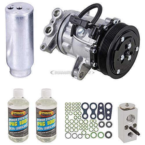 (AC Compressor w/A/C Repair Kit For Dodge Durango 2002 2003 - BuyAutoParts 60-80202RK New)