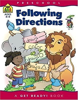 Following Directions Get Ready Books by School Zone Publishing