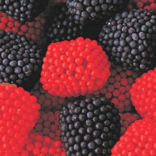 Raspberry and Blackberry Black & Red Gumdrops 1lb Bag (Blackberry And Raspberry Candy)