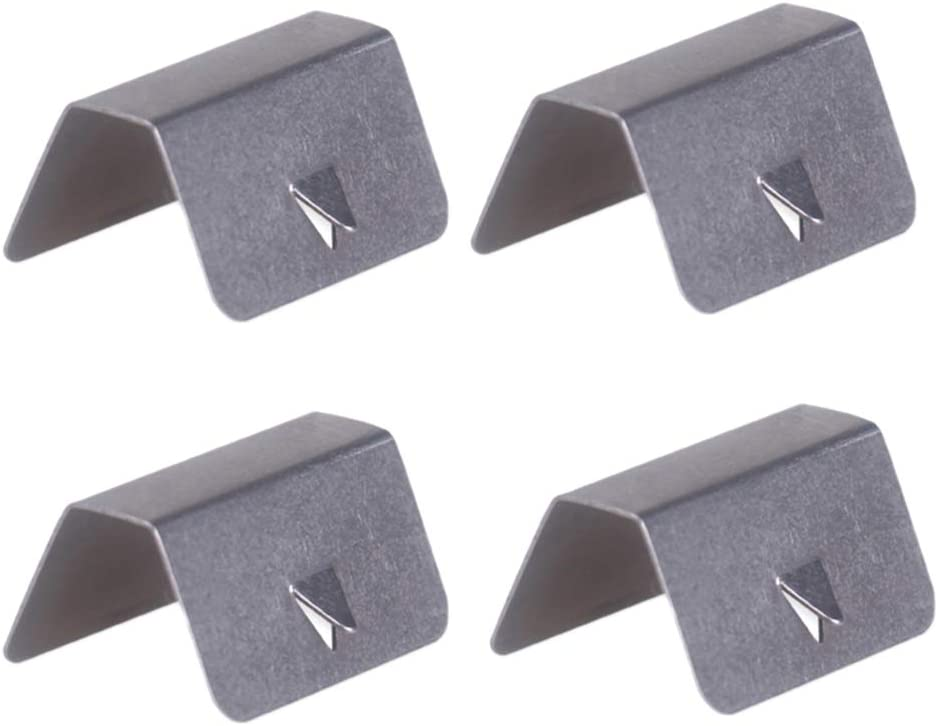 SDENSHI 4 Pack Stainless Steel Car Wind Rain Deflector Sned Clips Fits For Heko G3