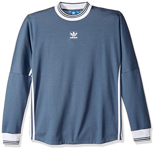 adidas Originals Men's Tops Long Sleeve Goalie Jersey, Tech Ink/White, (Tech Goalkeeper Jersey)