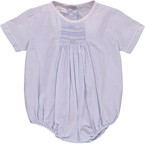 Carriage Boutique Baby Boy Creeper Romper w Matching Hat - Blue Gingham
