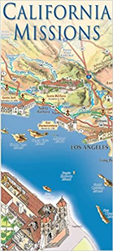 California Missions Map East View Press Francois Davot - California missions map