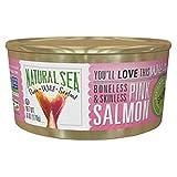 Natural Sea Wild Alaskan Skinless Boneless Pink Salmon, Salted, 6 Ounce