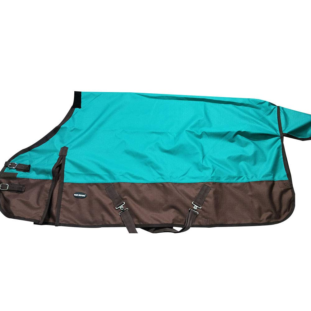 1200D Waterproof and Breathable Horse Sheet TGW Rding Horse Blanket (68'', Turquoise)