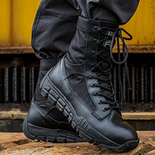 Tan Boots FREE Heel SOLDIER Deeply Serrated and Desert Tactical Bumper 8 Black Toe Inch Boots Military Mens wTZ4qOcwSU