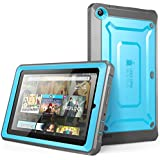 Fire 7 Case, SUPCASE [Heavy Duty] Case for 2015 Release Amazon Fire 7 Tablet [Unicorn Beetle PRO Series] Rugged Hybrid Protective Cover w Builtin Screen Protector Bumper (Blue/Black)