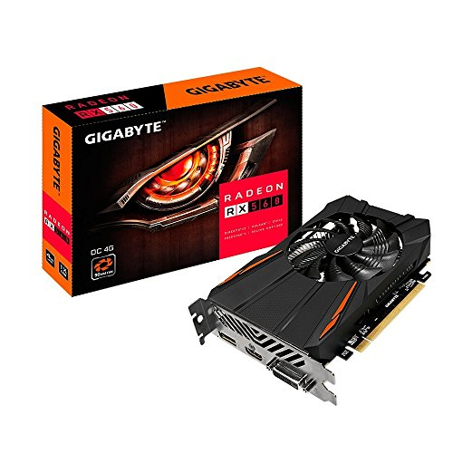 adeon RX 560 OC 4GB Computer Graphics Cards (Certified Refurbished) - Gigabyte GV-RX560OC-4GD REV2.0 R