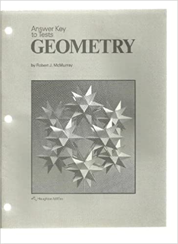 Book Answer key to tests: Geometry