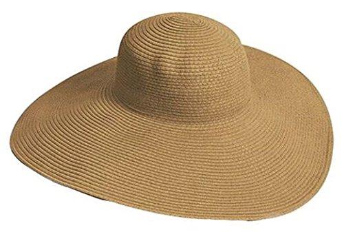Ebrun Big Beautiful Solid Color Floppy Hat (#5)