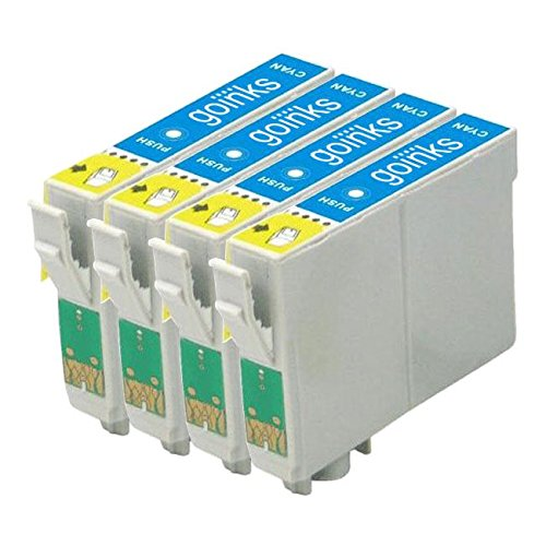 20 opinioni per 4 Go Inks Cyan Ink Cartridges to replace Epson T1282 Compatible/non-OEM for