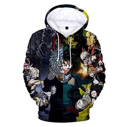 Boku No Hero Academia Hoodie 3D Printed Hooded Pullover Sweatshirt (Medium, Style 2) -