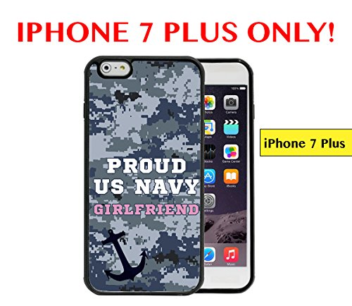 Girlfriend Anchor Navy (IPHONE 7 PLUS - Proud US Navy Girlfriend Anchor Blue Color Camouflage APPLE IPHONE 7 PLUS Rubber TPU Silicone Phone Case)