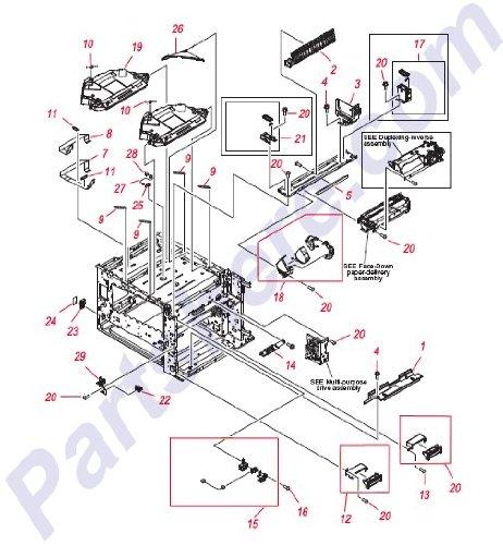 HP RL1-1283-000CN MP/Tray 1 Right Guide - CLJ CP6015 / CM6040 series ()