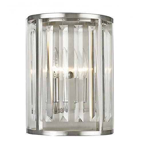 Crystal Nickel Monarch - Z-lite 439-2S-BN Monarch Wall Sconce In Brushed Nickel